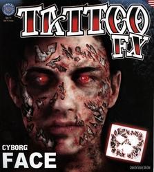 TATTOO FX -  VISAGE DE ROBOT