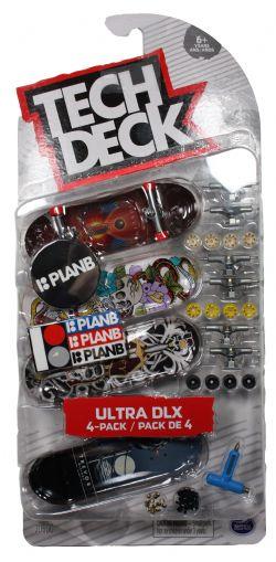 TECH DECK -  PLAN B - PACK DE 4 -  ULTRA DLX