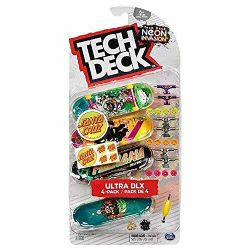 TECH DECK -  SANTA CRUZ - PACK DE 4 -  NEON INVASION