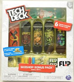 TECH DECK -  SK8SHOP SKATEBOARDING SERIES - PAQUET DE 6 (LE CONTENU PEUT VARIER) -  SK8SHOP SKATEBOARDING SERIES
