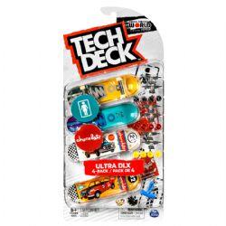TECH DECK -  ULTRA DLX - PAQUET DE 4 (GIRL SKATEBOARDS + CHOCOLATE)