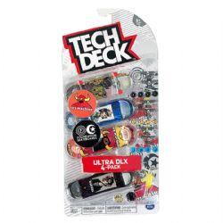 TECH DECK -  ULTRA DLX - PAQUET DE 4 (TOY MACHINE + FOUNDATION SKATEBOARDS)