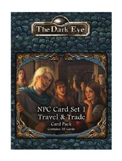 THE DARK EYE -  TRAVEL & TRADE - THE CARD PACK (ANGLAIS) -  NPC CARD SET 1