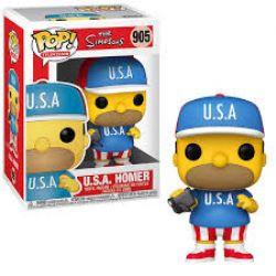 THE SIMPSONS -  FIGURINE POP! EN VINYLE DE U.S.A HOMER (10 CM) 904