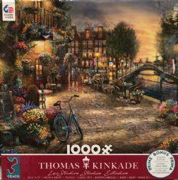 THOMAS KINKADE -  CAFÉ AMSTERDAM (1000 PIÈCES)