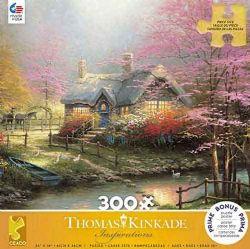 THOMAS KINKADE -  MARCHER PIERRE CHALET (300 PIÈCES)