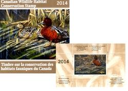 TIMBRES FAUNIQUES -  TIMBRE SUR LA CONSERVATION DES HABITATS FAUNIQUES DU CANADA 2014 30