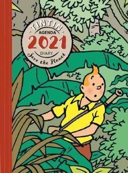 TINTIN -  AGENDA DE BUREAU 2021 - SAUVONS LA PLANÈTE