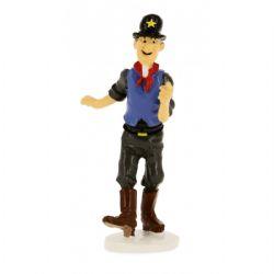 TINTIN -  FIGURINE ALLIAGE SHERIFF (5 CM)
