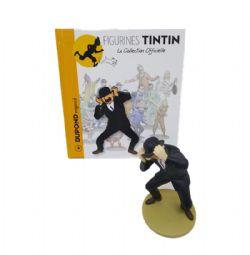 TINTIN -  FIGURINE DE DUPOND ENGONCÉ + LIVRET + PASSEPORT (12CM) 04