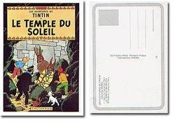 TINTIN -  LE TEMPLE DU SOLEIL - CARTE POSTALE