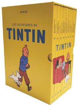 TINTIN -  LES AVENTURES DE TINTIN INTÉGRALE (COFFRET EN 8 VOLUMES - LA COLLECTION COMPLÈTE)