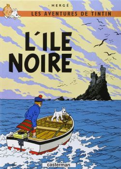 TINTIN -  LIVRE USAGÉ - L'ÎLE NOIRE (FRANÇAIS)