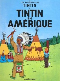 TINTIN -  LIVRE USAGÉ - TINTIN EN AMÉRIQUE (FRANÇAIS) 03