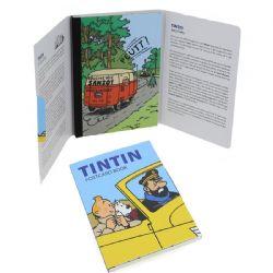 TINTIN -  LIVRET DE CARTES POSTALES - VOITURE