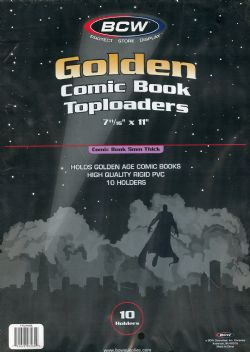 TOPLOADER -  PLASTIQUE RIGIDE POUR COMICS GOLDEN 7 1/8
