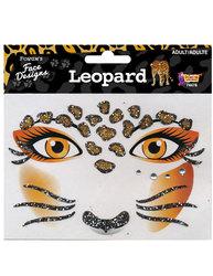 TRANSFERT POUR LE VISAGE -  LEOPARD -  LÉOPARD