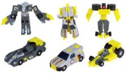 TRANSFORMERS -  DIRTBOSS, DOWNSHIFT & MIRAGE (ARMADA - 2002) MINI-CONS