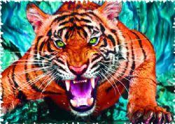 TREFL -  FACE À FACE AVEC UN TIGRE (600 PIÈCES) -  CRAZY SHAPES!