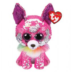 TY FLIPPABLES -  CHARMED LE CHIEN (18 CM)