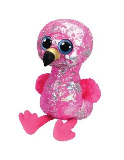 TY FLIPPABLES -  PINKY LE FLAMANT (40 CM)