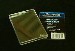 ULTRA PRO -  BOÎTE 2 PIÈCES EN PLASTIQUE POUR 10 CARTES ***LIMITE DE CINQ (5) PAR CLIENT***