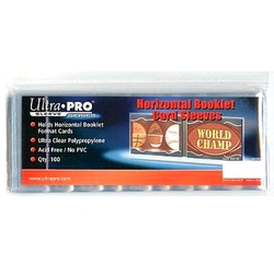 ULTRA PRO -  PLASTIQUE HORIZONTAL POUR BILLET (100)