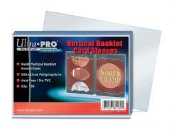 ULTRA PRO -  PLASTIQUE VERTICAL POUR BILLET (100) PEUT CONTENIR 2 CARTES