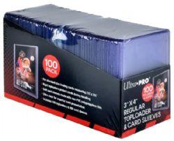 ULTRA PRO -  TOPLOADS 3X4 REGULIER AVEC POCHETTES POUR CARTES (100 TOPLOADERS & POCHETTES) ***LIMITE DE 1 PAR CLIENT***