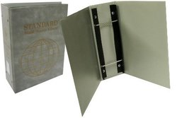 UNI-SAFE -  CARTABLE VIDE STANDARD 3 1/2 POUR TIMBRES DU MONDE GRIS
