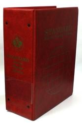 UNI-SAFE -  CARTABLE VIDE STANDARD 3 1/2 POUR TIMBRES DU MONDE ROUGE