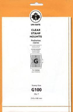 UNI-SAFE -  POCHETTES À FOND CLAIR G100 (PAQUET DE 7)
