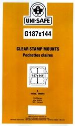 UNI-SAFE -  POCHETTES À FOND CLAIR G187/144 (PAQUET DE 5)