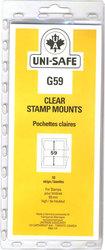 UNI-SAFE -  POCHETTES À FOND CLAIR G59 (PAQUET DE 10)
