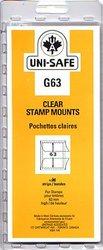 UNI-SAFE -  POCHETTES À FOND CLAIR G63 (PAQUET DE 10)