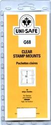 UNI-SAFE -  POCHETTES À FOND CLAIR G68 (PAQUET DE 10)