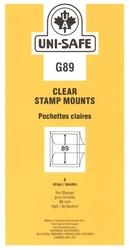 UNI-SAFE -  POCHETTES À FOND CLAIR G89 (PAQUET DE 8)