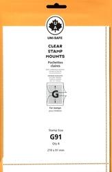UNI-SAFE -  POCHETTES À FOND CLAIR G91 (PAQUET DE 8)