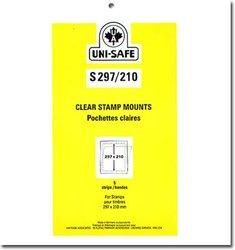 UNI-SAFE -  POCHETTES À FOND CLAIR S297/210 (PAQUET DE 5)