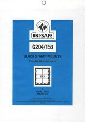 UNI-SAFE -  POCHETTES À FOND NOIR G204/153 (PAQUET DE 5)