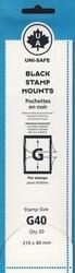 UNI-SAFE -  POCHETTES À FOND NOIR G40 (PAQUET DE 20)