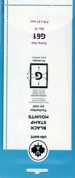 UNI-SAFE -  POCHETTES À FOND NOIR G61 (PAQUET DE 10)