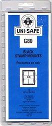 UNI-SAFE -  POCHETTES À FOND NOIR G80 (PAQUET DE 10)
