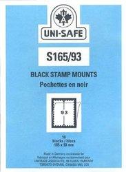 UNI-SAFE -  POCHETTES À FOND NOIR S165/93 (PAQUET DE 10)