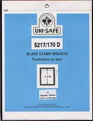 UNI-SAFE -  POCHETTES À FOND NOIR S217/170 (PAQUET DE 3)