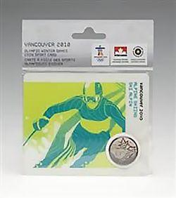 VANCOUVER 2010 -  CARTE DE COLLECTION DES JEUX OLYMPIQUES DE VANCOUVER 2010 - SKI ALPIN 2007 (MULE) -  PIÈCES DU CANADA 2007-2010 05