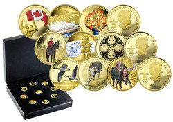 VANCOUVER 2010 -  ENSEMBLE DE 9 PIÈCES SUR LES JEUX OLYMPIQUES DE VANCOUVER 2010 -  PIÈCES DU CANADA 2007-2009