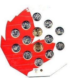 VANCOUVER 2010 -  ENSEMBLE OFFICIEL DES PIÈCES DES JEUX OLYMPIQUES 2007-2010 -  PIÈCES DU CANADA 2007