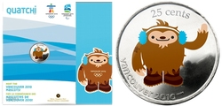 VANCOUVER 2010 -  QUATCHI - MASCOTTE DES JEUX OLYMPIQUES DE VANCOUVER 2010 -  PIÈCES DU CANADA 2008