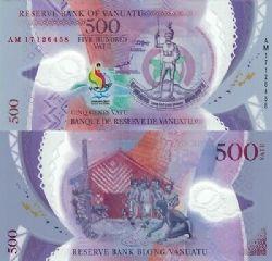 VANUATU -  500 VATU 2017 (2019) (UNC) - BILLET COMMÉMORATIF